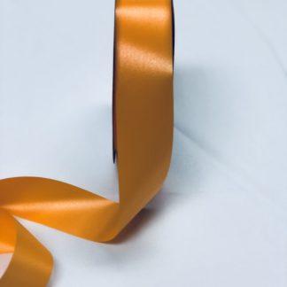 Tropical Orange Waterproof Satin Ribbon Narrow