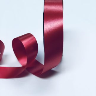 Lava Red Waterproof Satin Ribbon Narrow