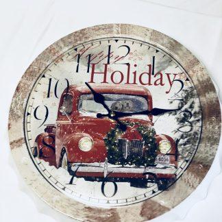 happy holiday clock
