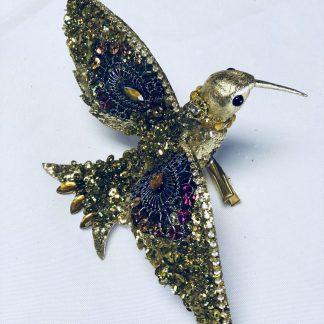 gold hummingbird clip