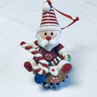 gingerbread santa ornament