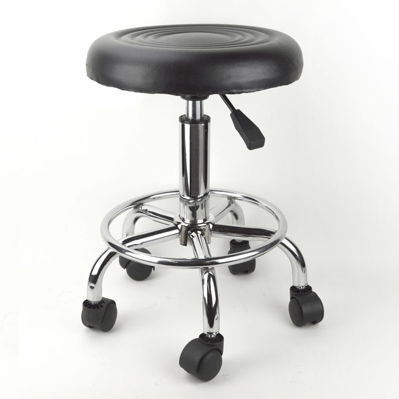 black salon chairs panther throne chair adjustable rolling stool tattoo