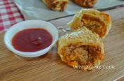 Wholesome home-made sausage rolls