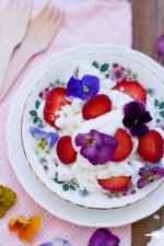 Eton Mess with Pansies plus 5 other edible flower varieties