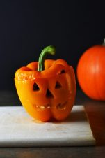 Jack O Lantern Stuffed Capsicums | Wallflower Girl