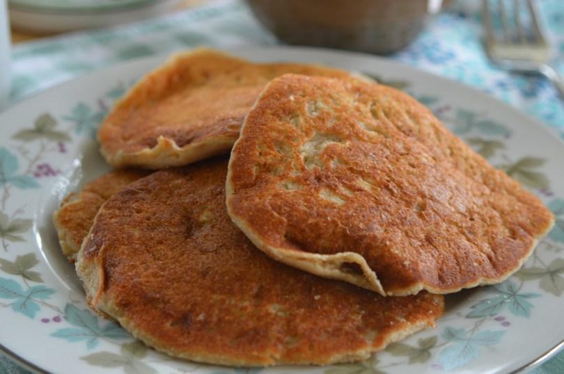 Fluffy Oat Flour Pancakes