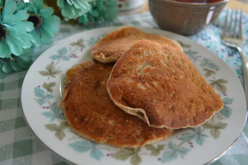Fluffy Oat Flour Pancakes! 5