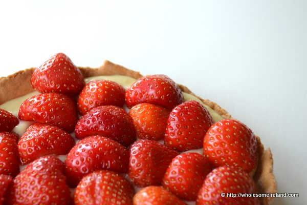 """A book review of """"Food For Friends"""" by Edward Hayden along with a recipe for a glazed fruit tart."""