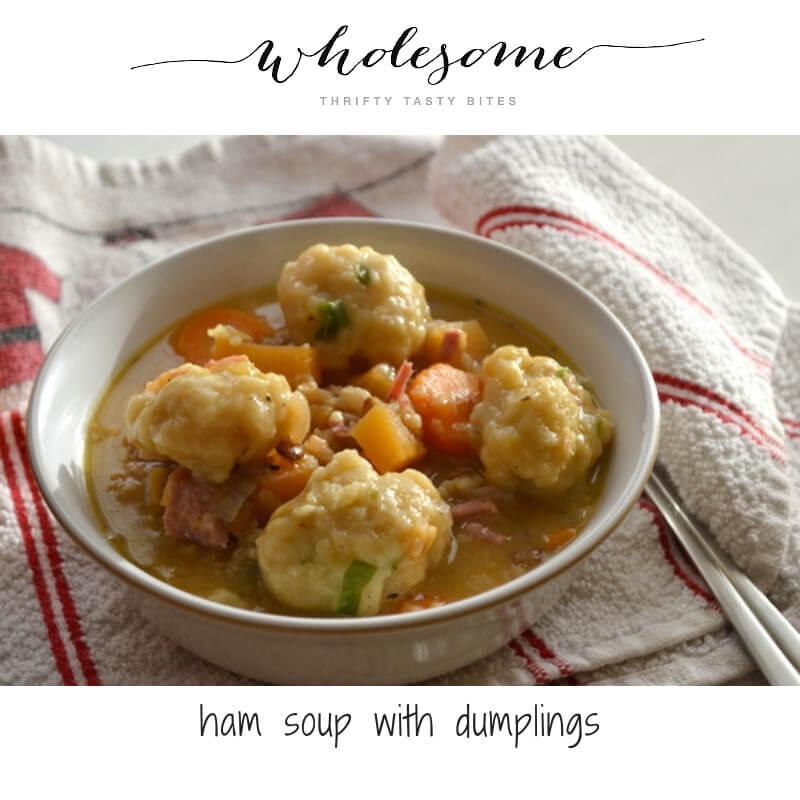 Ham Soup With Dumplings