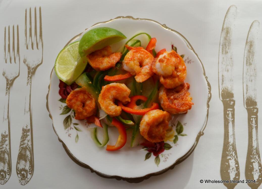 Warm Prawn Salad - Wholesome Ireland - Irish Food & Parenting Blog