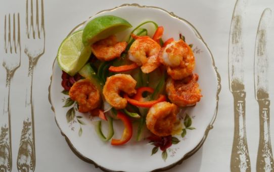 Warm Prawn Salad