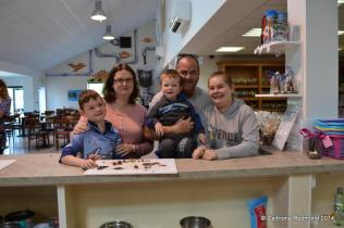The family at the Skellig Chocolate Factory