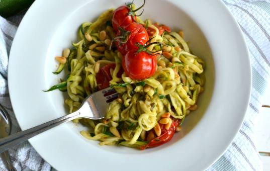 Courgetti With Pesto