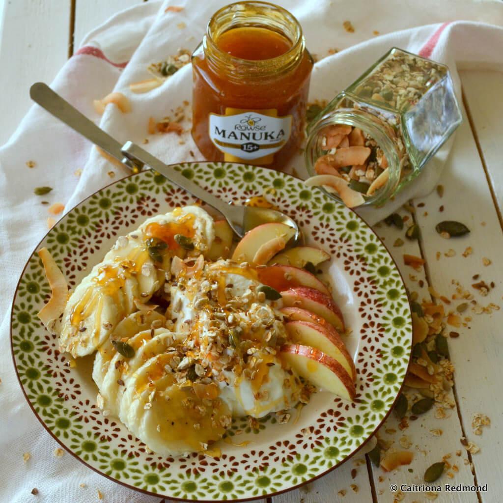 One Pan No Bake Granola With Manuka Honey #Ad