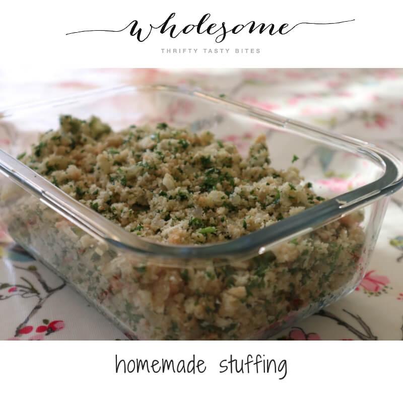 Make ahead homemade stuffing recipe