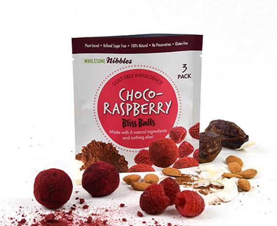 chocolate raspberry vegan snack