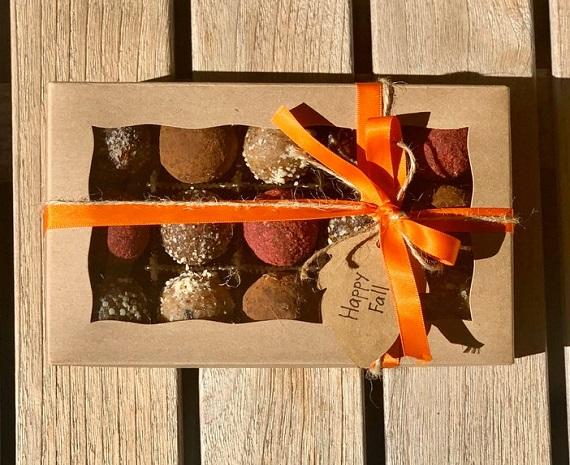 halloween gift box truffles gf