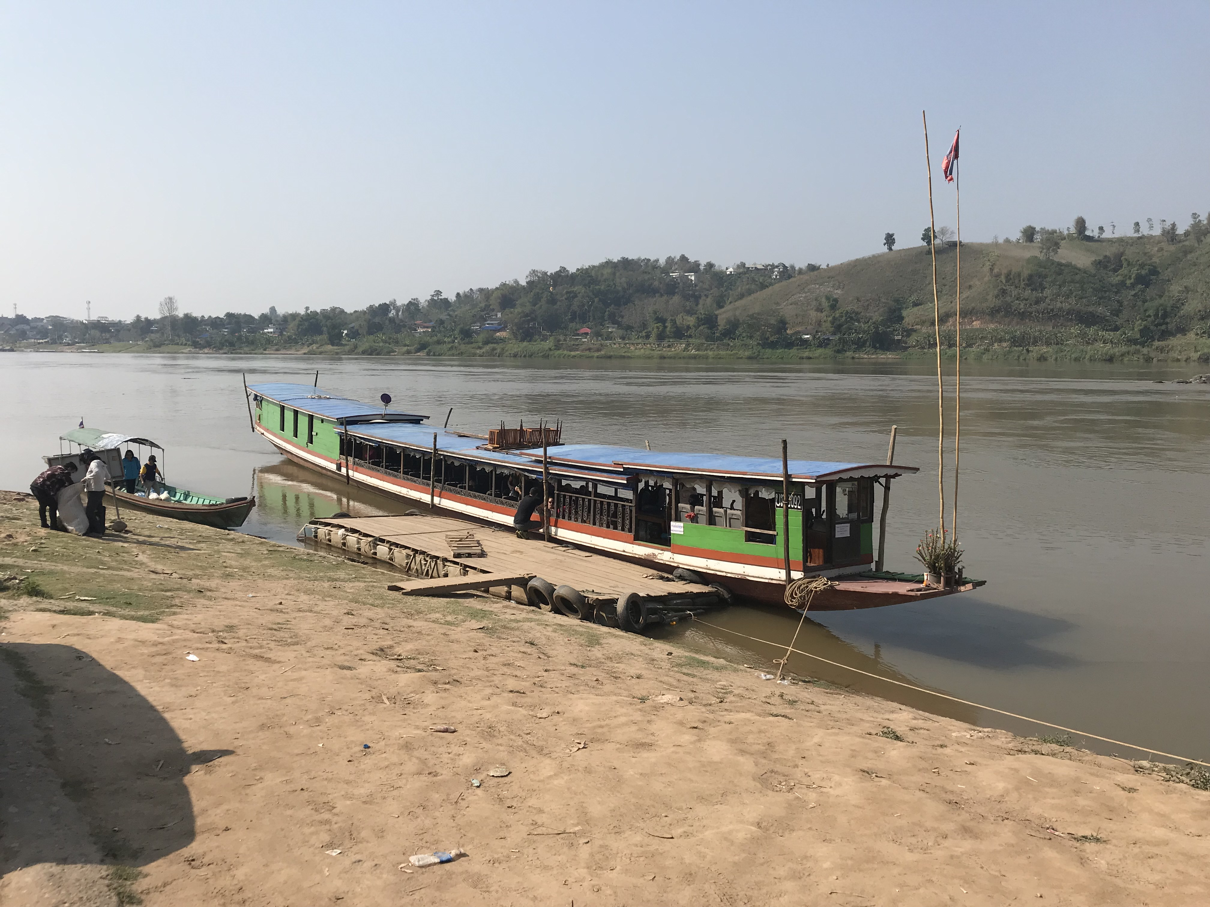 slow boat from northern Thailand to Laos
