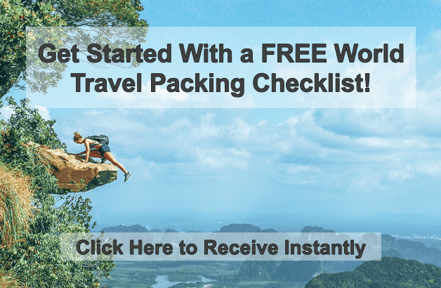 backpacking for beginners, free world travel packing checklist, backpacking travel checklist, beginner backpacking packing checklist, packing for one year of travel
