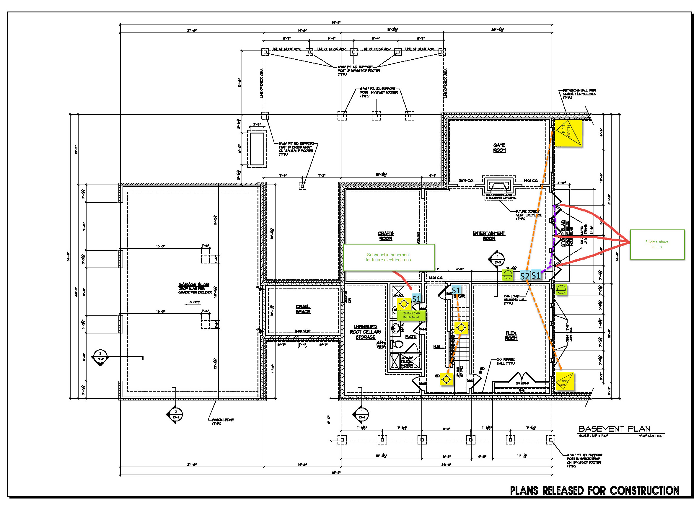 Electrical Plan For Basement