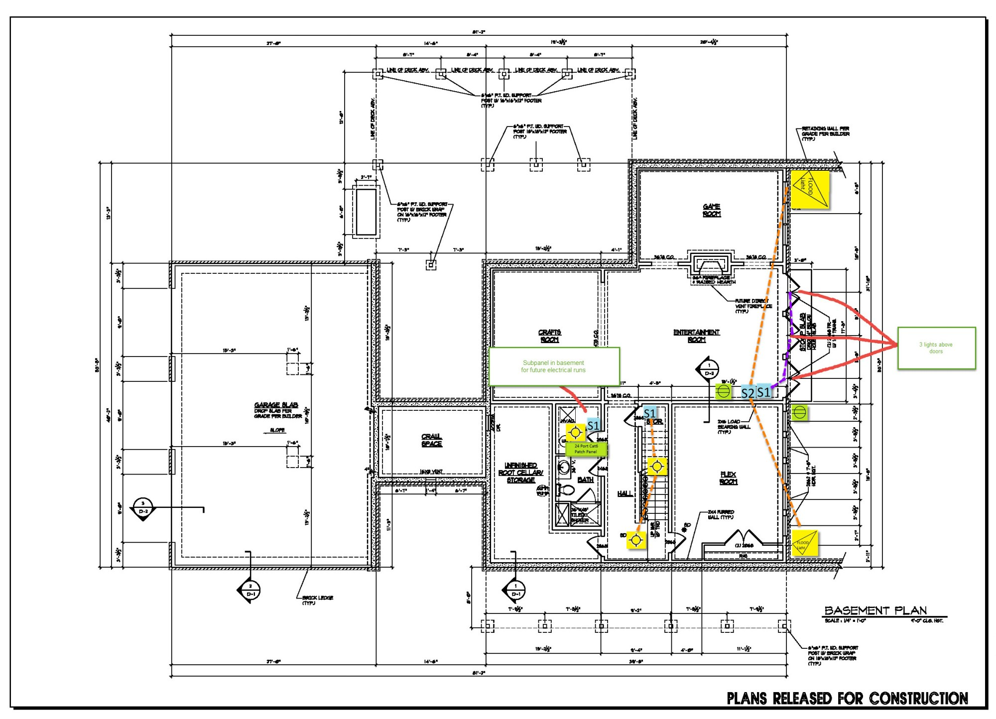 hight resolution of basement floor electrical plan