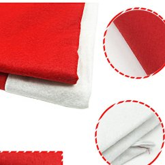 Amazon Xmas Chair Covers Gym Replacement Resistance Bands A Set Of Santa Hat Christmas Tablecloth And