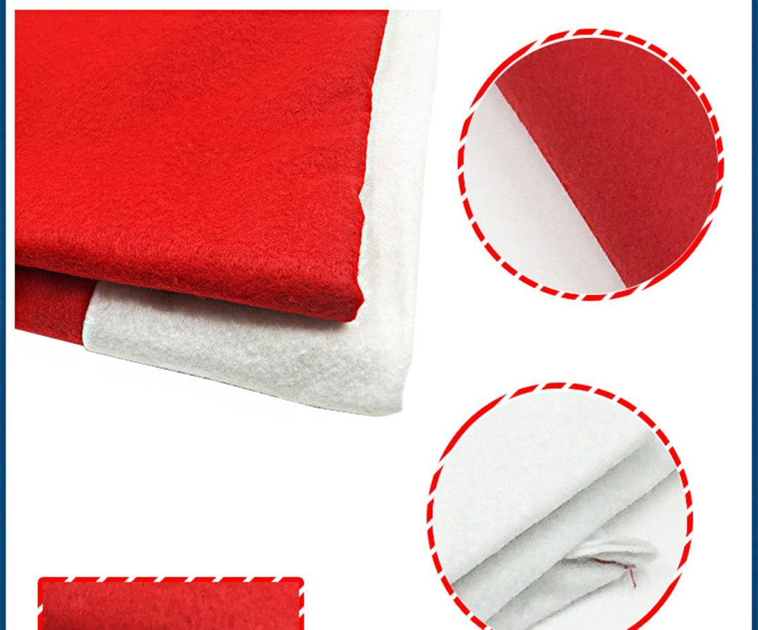 santa chair covers sets spandex sashes for folding chairs a set of hat christmas tablecloth and