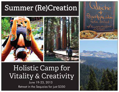 wholly creative retreat postcard