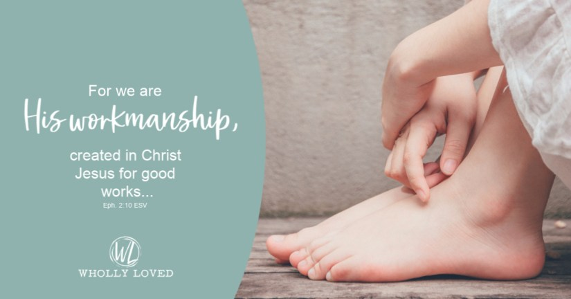 Feet & Hands with Eph. 2:10 listed to the left