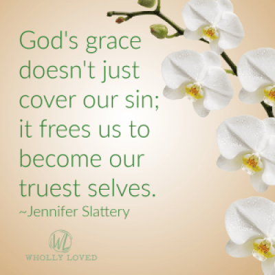 grace quote on flower image