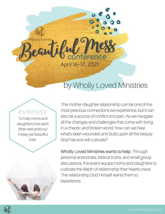 Page two mother daughter conference brochure