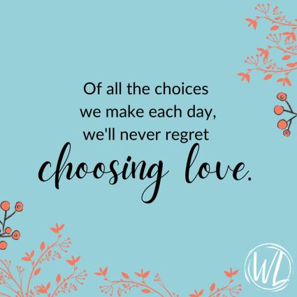 Choose love graphic