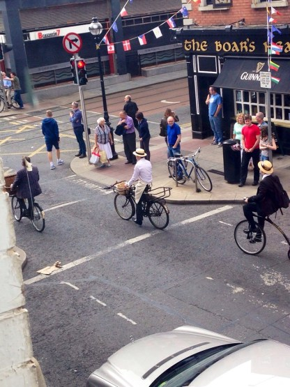 The annual Bloomsday Celebration came by our office window today!