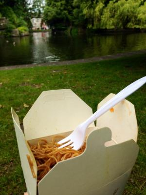 Lunch in St. Stephen's Green!
