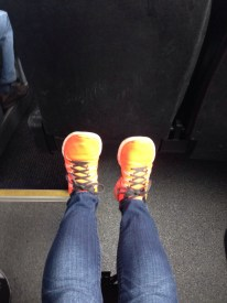 Lots of legroom on the bumpy bus!