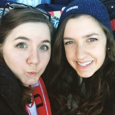 Too excited about hockey with Lisa