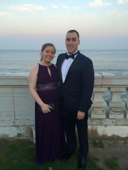 All gussied up with Ben at Rosecliff (the Newport mansion)