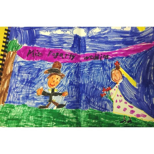 Adorable drawing from two of my kindergarteners :)