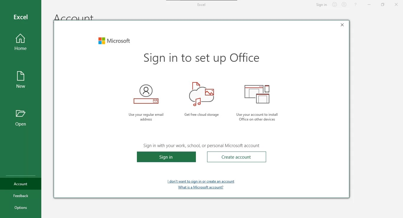 2 - Sign in to your Microsoft account or create a new one.