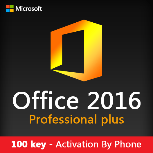 100 key Office 2016 Pro Plus Activation By Phone