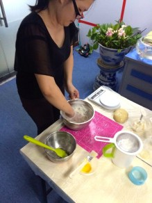 How to make mooncake dough: Flour, golden syrup, alkaline water and vegetable oil.