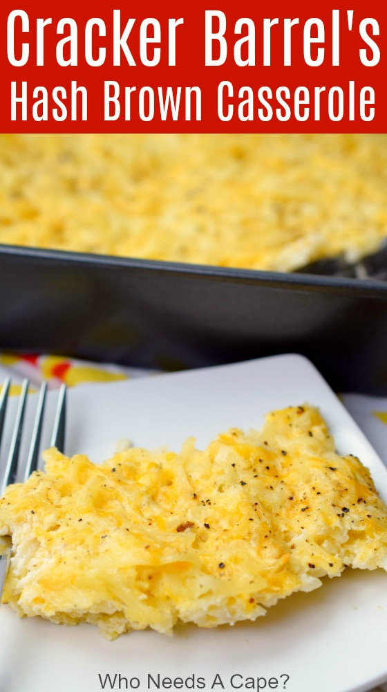 Cracker Barrel's Hash Brown Casserole is the perfect solution when you can't get to your favorite restaurant. Make this copycat recipe in your own kitchen!