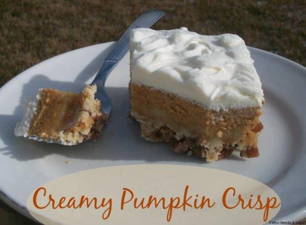 Creamy Pumpkin Crisp   Who Needs A Cape?