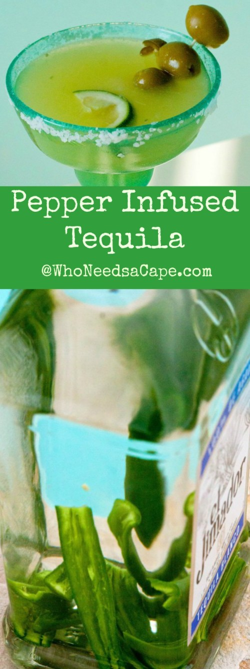 Pepper Infused Tequila is amazing (and it makes the perfect Mexican Martini) MUST PIN