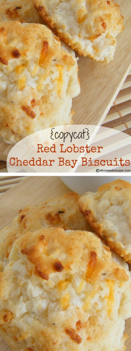 Make these famous restaurant biscuits at home! {copycat} Red Lobster Cheddar Bay Biscuits are unbelievably easy to prepare and oh so good! | Who Needs A Cape?