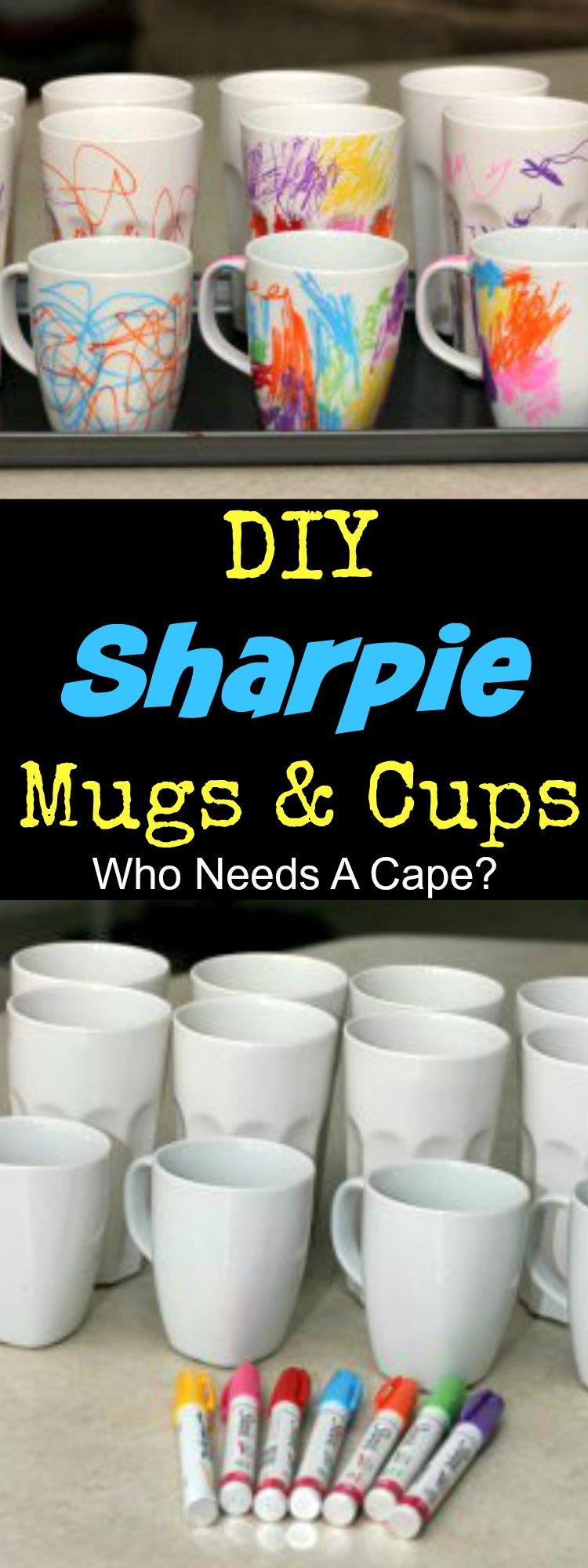 DIY Sharpie Mugs Cups Collage