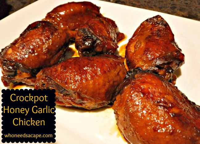 Can you believe this meal is from a slow cooker? It is! Crockpot Honey Garlic Chicken will be your new family favorite, trust me!