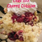 Cake Mix Cherry Cobbler