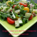 Arugula Salad with Red Wine Vinaigrette