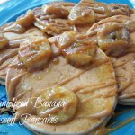 Caramelized Banana Biscoff Pancakes